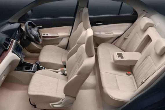 Swift Dzire Car Rental - Interior