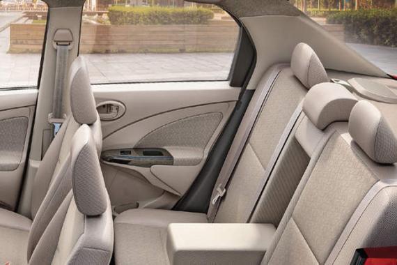 Toyota Etios-rental seats view